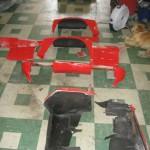 Old front clip parts from 1963 Corvette Roadster project