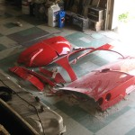 Old rear clip parts from 1963 Corvette Roadster project