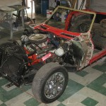 Old front clip removed from 1963 Corvette Roadster project