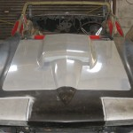 Pre fitting front clip and fitting head light doors on 1963 Corvette Roadster project