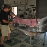 Fitting exhaust panel in new rear clip for 1963 Corvette Roadster project