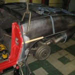 Bonding rear clip driver's side on 1963 Corvette Roadster project