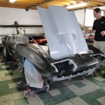 Bonding front clip to car on 1963 Corvette Roadster project