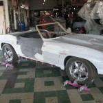 Squaring body panels to one another on 1963 Corvette Roadster project