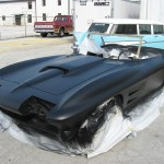 2nd coat of heavy build sprayable primer on 1963 Corvette Roadster project