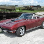 1963 Corvette Roadster Left front view with stinger hood