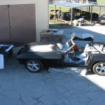 All parts in final primer on 1963 Corvette Roadster project