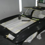 Body mock up for base color application on 1963 Corvette Roadster project