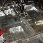 1963 Corvette Roadster new floor insulation and sound proofing