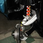 Newly detailed front suspension