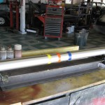 Drive shaft re-finished with paint details