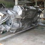Body with metal repairs completed