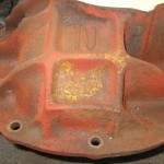 rear axle center section yellow paint mark