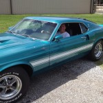 The new 1969 Shelby GT500 with its owner
