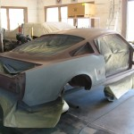 Final board sanding on body