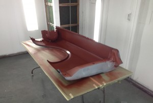 Applying red oxide color