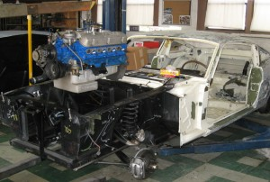 1966 Shelby GT350 engine removed