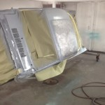 Epoxy primer on roof and upper quarters