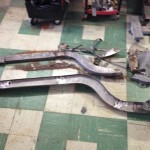 New and old frame rails