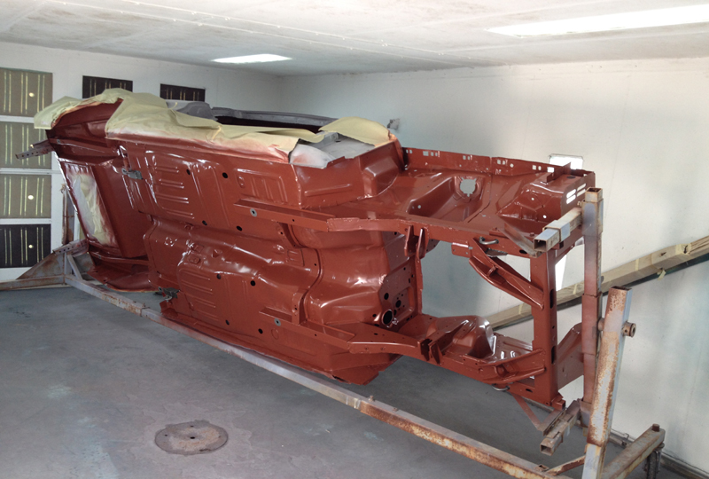Red Oxide On Belly Web Sized on 1966 Chevrolet Corvair 500