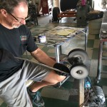 Refinishing stainless trim