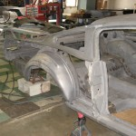 Passenger quarter panel removed