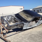 Engine compartment ready for epoxy primer