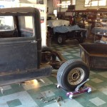 The old 1931 Ford Pick up is coming apart