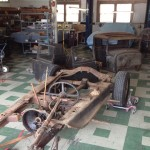 Getting down to the Model A frame