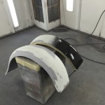 Fill primer on rear fenders