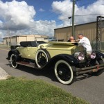 The 1925 Rolls on arrival day.